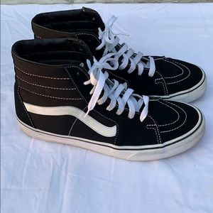 Vans high top skate shoes men's 10.5 black suede